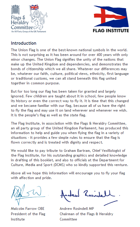 Flying Flags in the United Kingdom - Introduction