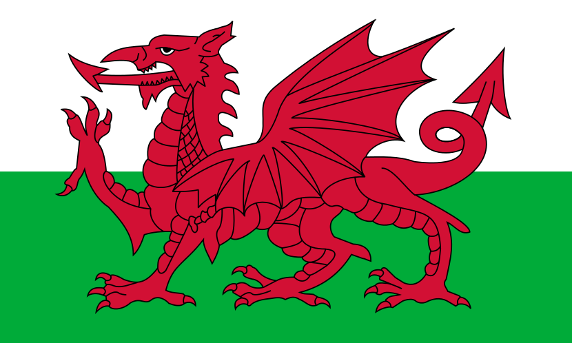 Flag Of Wales A Blood Red Dragon On A Field Of Green The Flag