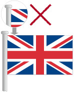Upside down Union Flag