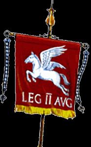 A Roman vexillum or standard - the origin of the term vexillology