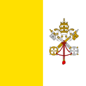 This flag is almost identical to that of the Papal States prior to 1870 when Italy captured Rome.
