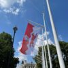 The Leicestershire Flag: first raised on 19 July 2021 in Parliament Square, London