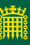 House of Commons flag: a yellow portcullis below a coronet on a green field